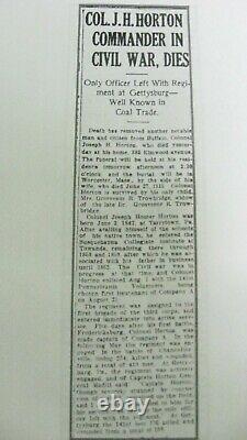 IDED Civil War Soldier CDV Capt. Joseph H Horton 141st Pennsylvania Vols