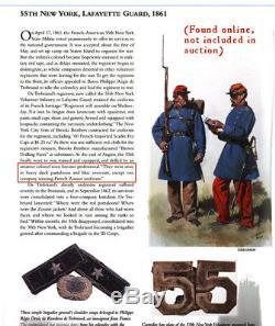 ID'd Civil War Soldier 55th New York Lafayette Guard Zouave
