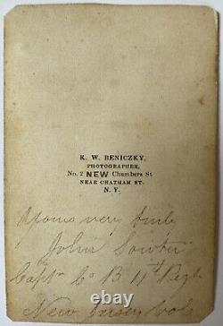 ID'd & Signed Civil War Era CDV of Capt. John Sowter, 11th New Jersey Infantry