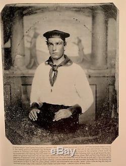 INCREDIBLE Identified Sailor Civil War Navy Ohio Sailor Cabinet Card CDV