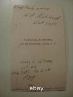Ided 61st Ny Volunteers CIVIL War CDV Captain Henry C Williams 61st Ny Vols