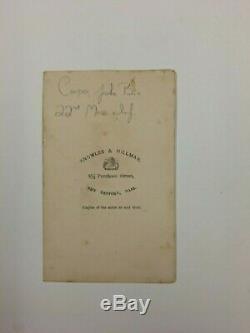 Identified CDV of John B. Cooper 22nd Massachusetts Infantry Civil War