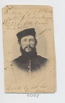 Identified Civil War Soldier Ohio CDV. States which battle he was killed in