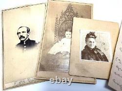 Identified Civil War Union officer Secret Service button lot + photos & letter