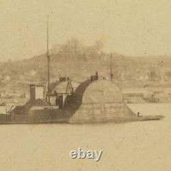 Incredible Civil War CDV Navy Ironclad USS Choctaw at Vicksburg, Mississippi