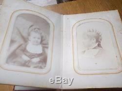 John Wilkes Booth signed CDV in original album + civil war era Photographs