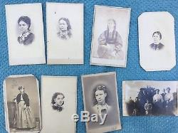 LOT 75+ CDV Carte de Visite photos and Tintypes Civil War era Howell, Michigan