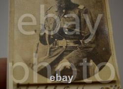Lt Col C. J. Tinkham 26th Illinois Volunteers Civil War CS German CDV Photo 1863