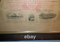 Maine Civil War Testimonial for Alonzo Herrin sig. Joshua Chamberlain Gov. 1868