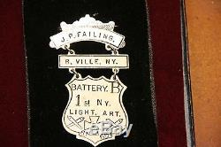 Named CIVIL War Ladder Badge, Battery B 1st Ny. Light Artillery