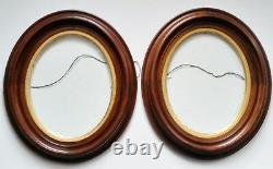 OGEE WALNUT PICTURE FRAMES Civil War Frame Late 1800's Matched Pair, Nice