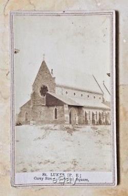 ORIGINAL ST. LUKES CHURCH BALTIMORE MD. DURING THE CIVIL WAR c1864 CDV PHOTOGRAPH