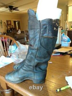 One Pair of Civil War Calvary Boots with damage (see photos) size 10 mens