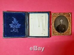 Original 6th Plate Civil War Soldier Tintype