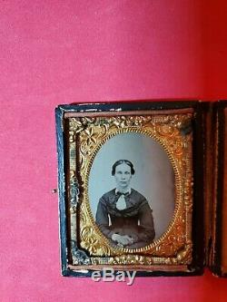 Original 9th Plate Civil War Soldier/Wife Ambrotype
