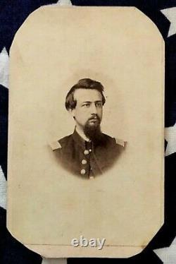 Original CIVIL War CDV 88th Ohio O. V. I. Camp Chase Prison Guard Captain Lamb