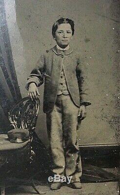 Original CIVIL War Confederate Drummer Boy Tintype 1/6 Plate