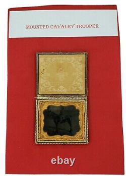 Original Civil War 6th Plate Mounted Cavalry Trooper
