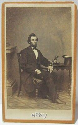 original civil war abraham lincoln cdv carte de visite. Black Bedroom Furniture Sets. Home Design Ideas