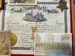 Original Civil War IDD Tintype Image Grouping GAR To 13th Iowa