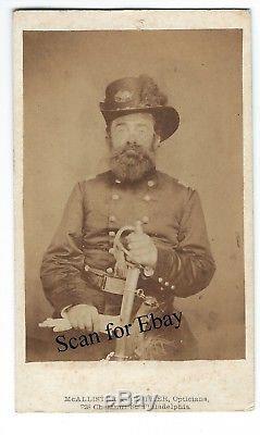 Original PA civil war CDV Lieut Colonel Gabriel DeKorponay 28 PA Infantry