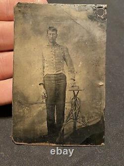Original VMI Virgina Military Institute Tin Type Photo pre Civil War Confede