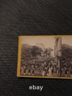 PRE CIVIL WAR NY INFANTRY July 4th 1860 STEREOVIEW Army New York Antique Photo