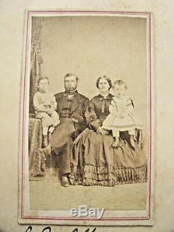 Pennsylvania CIVIL War Cavalry Officer And Family CDV Photo