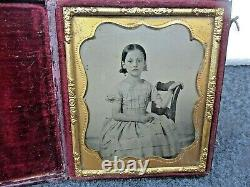 Photo Ambrotype Cased Pretty Girl, Civil War, 1/6