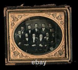 Pre Civil War Daguerreotype Large Group of Men Poss Louisiana Political Photo
