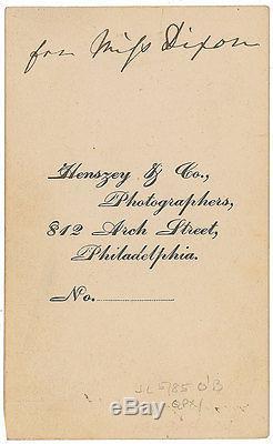 President U. S. Grant CDV Photo Signed Civil War Great Autographed Image