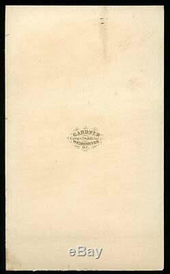 RARE 1860s CDV Civil War Battle Flag of the IRON BRIGADE by Alexander Gardner