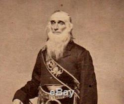 RARE ANTIQUE Civil War MASONIC ROYAL ARCH PHOTO Important FREEMASON PHOTOGRAPHER