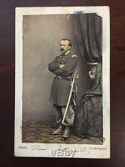 RARE CDV of General Daniel Butterfield by Brady Civil war era carte de visite