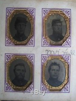 RARE CIVIL WAR PHOTO ALBUM 40 PHOTOS OF Co'C' 19TH WISCONSIN UNION INFANTRY
