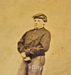 RARE! Civil War Photo Child Soldier Drummer Boy WOW LOOK Dayton PA CDV