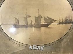 RARE Civil War Photograph Framed US Sloop of War Tuscarora