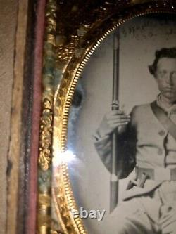 RARE FLORIDA Infantry Confederate Civil War Soldier POW, Armed, Identified