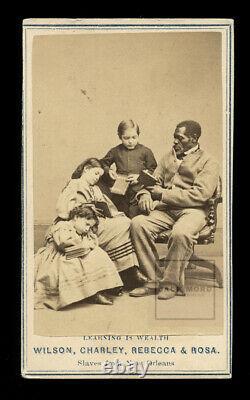Rare 1860s African American Free Slaves Civil War Era Slavery History Photo