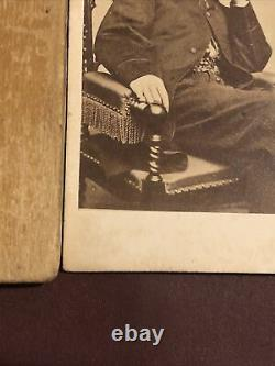 Rare 1860s CIVIL War CDV Photo John Wilkes Booth Famous Lincoln Assassin Seated