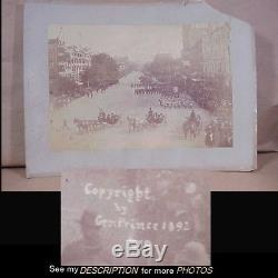 Rare 1892 Civil War G. A. R. 26th Encampment Parade Washington D. C Prince Photo