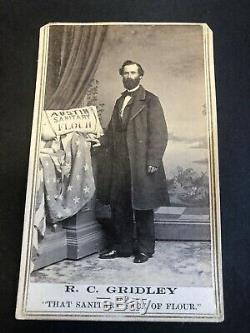Rare AUSTIN NEVADA R. C. Gridley SANITARY FLOUR CDV Photograph Civil War Sanitary