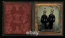 Rare Ambrotype Civil War Era Soldiers Tinted, Armed Missouri 1860s Photo