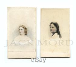 Rare CDV Photos Hetty Cary Jennie Cary Inventors of Confederate Civil War Fl ag