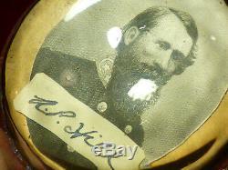 Rare CIVIL War Era Confederate Gen. A. P. Hill Autograph Paperweight