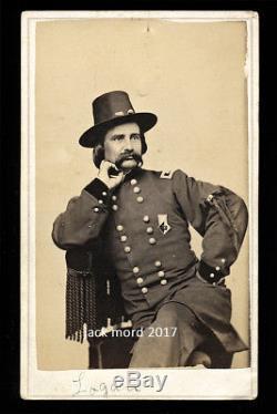 Rare Civil War CDV Photo General Logan Wearing Corps Badge Washington DC Goldin