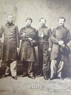 Rare Civil War CDV of Four Union Officers/Escapees from Libby Prison