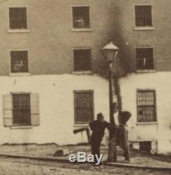 Rare Civil War CDV of Richmond's Libby Prison Prisoners Visible in Windows