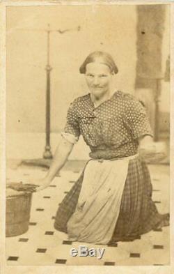 Rare Occupational Female Photographer Civil War Era CDV Antique Photo