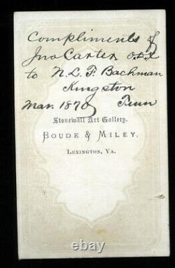 Rare Signed / Autographed CDV of Civil War Confederate General Robert E. Lee